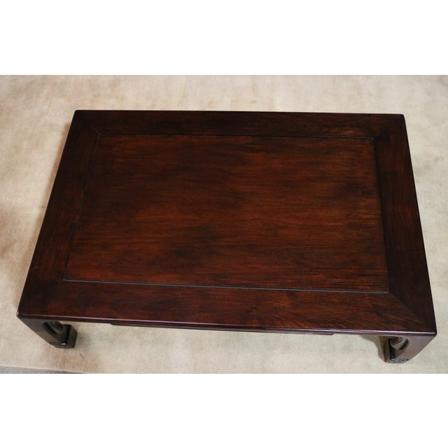 1920s Japanese Rosewood Coffee Table For Sale - Image 5 of 6