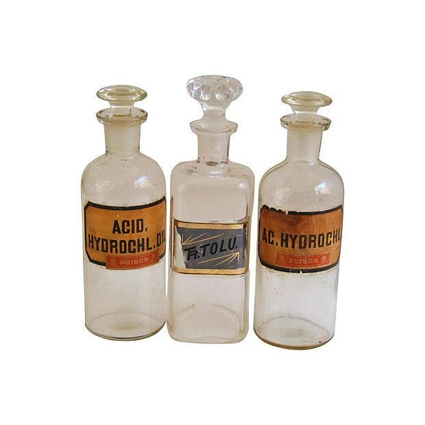Antique English Apothecary Bottles - Set of 3 - Image 7 of 7