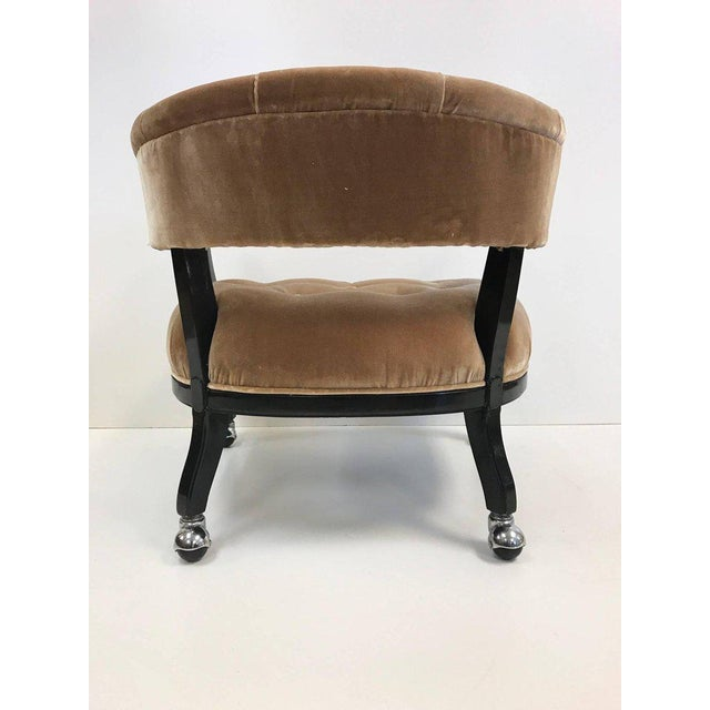 1970s Hollywood Regency Lacquered Slipper Chair For Sale - Image 5 of 6
