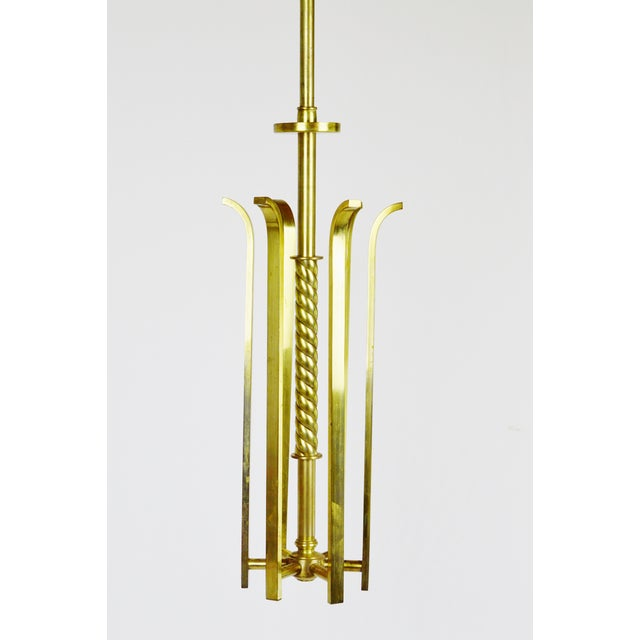 Art deco brass chandelier body chairish art deco brass chandelier body image 4 of 12 mozeypictures Image collections