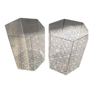 Acrylic Lucite Hexagon Table Bases - a Pair For Sale