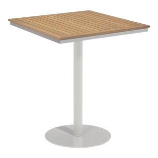 "38"" Square Outdoor Bar Table, Natural For Sale"