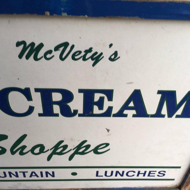 Antique Hand Painted Ice Cream Shoppe Sign - Image 7 of 9