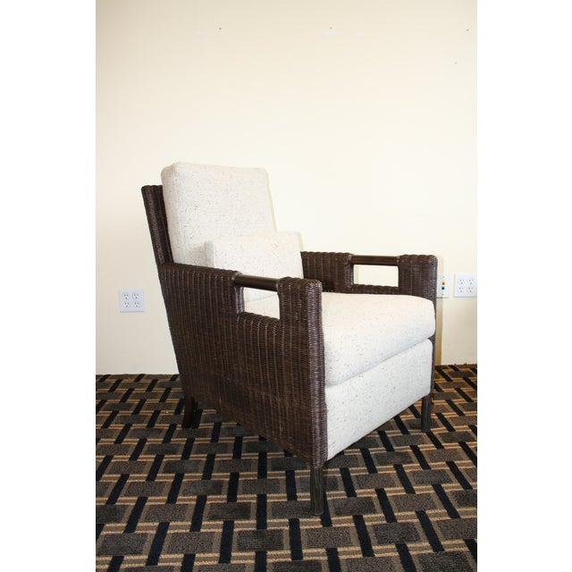 Contemporary McGuire Thomas Pheasant Woven Core Club Chair For Sale - Image 3 of 8