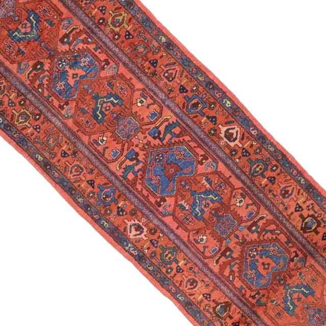 "Antique Persian Heriz Runner - 2'11"" X 9'9"" For Sale - Image 4 of 4"