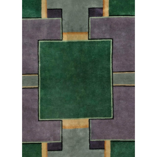 Textile Vintage Chinese Deco Rug For Sale - Image 7 of 9