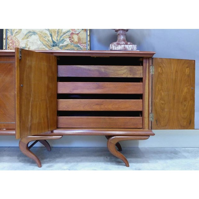 Giuseppe Scapinelli Monumental and Important Sculptural Credenza Giusseppe Scapinelli, circa 1960 For Sale - Image 4 of 10