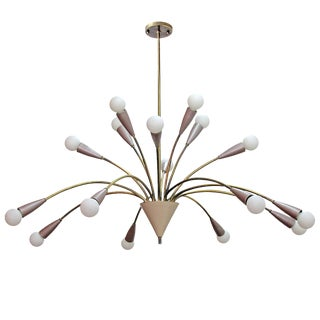 "1950s Vintage German Sixteen-Arm ""Fountain"" Chandelier For Sale"
