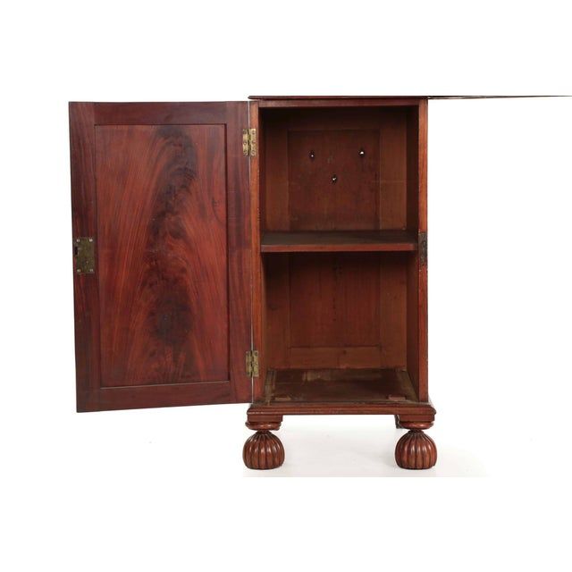 Red 19th Century English William IV Period Antique Sideboard Console For Sale - Image 8 of 11