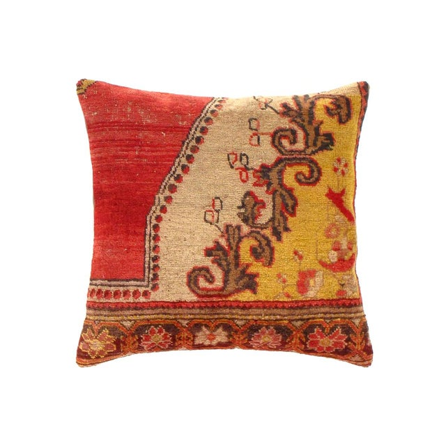 Turkish Vintage Turkish Pasargad Hand Knotted Rug Pillow For Sale - Image 3 of 3