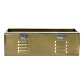 Double Wide Locker Basket in Brass Tone, Custom Made For Sale