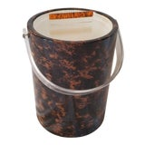 Image of Faux Tortoise Shell Ice Bucket For Sale