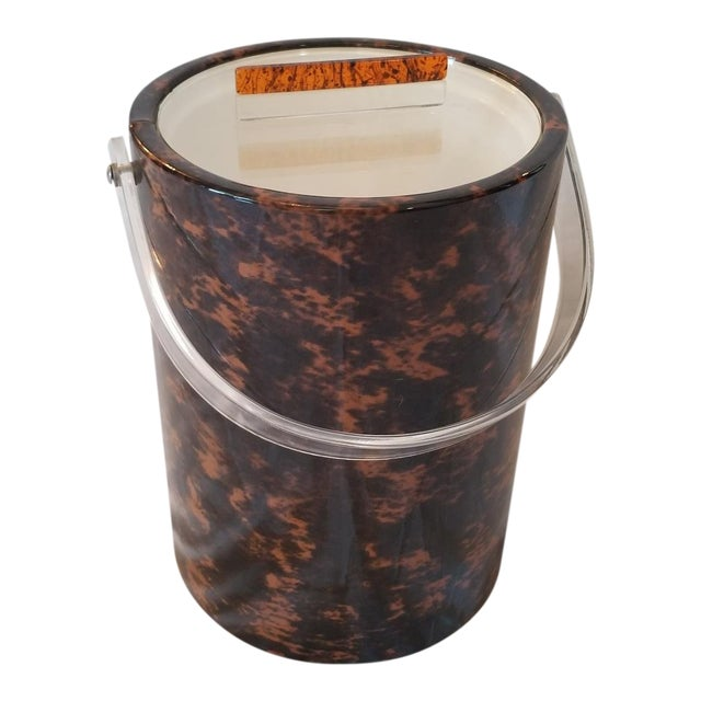 Faux Tortoise Shell Ice Bucket For Sale