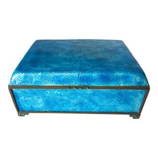 Turquoise Enamel Chinese Art Deco Box