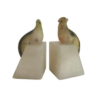 Italian Alabaster Bird Bookends, Pair Preview