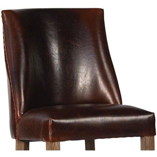Leather Upholstered Bar Stool - Image 2 of 2