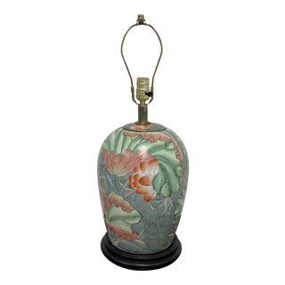 Mid-20th Century Century Chinese Porcelain Jar Table Lamp For Sale