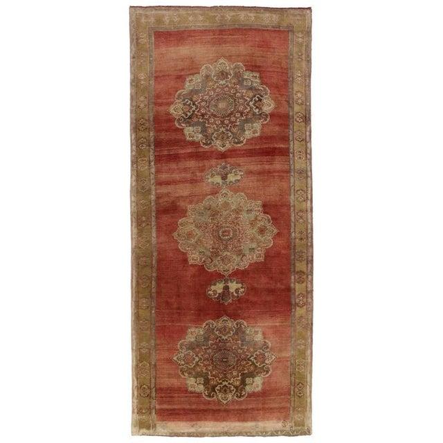 Vintage Turkish Oushak Carpet Runner For Sale In Dallas - Image 6 of 6