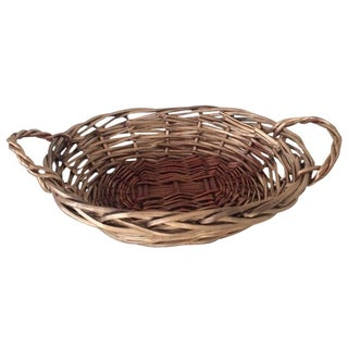 Two-Handled Golden Basket For Sale