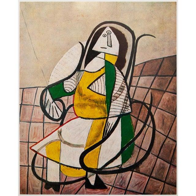 Lithograph 1971 Parisian Picasso Femme Assise Dans Un Rocking Chair Photogravure For Sale - Image 7 of 8