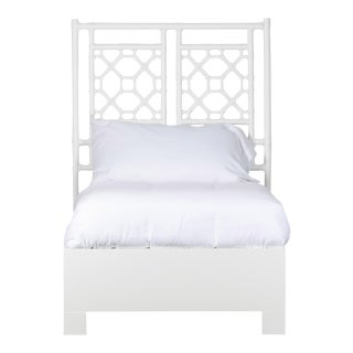 Lattice Back Bed Twin - White For Sale