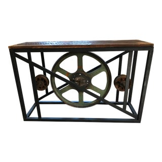 Industrial Country Display Table For Sale