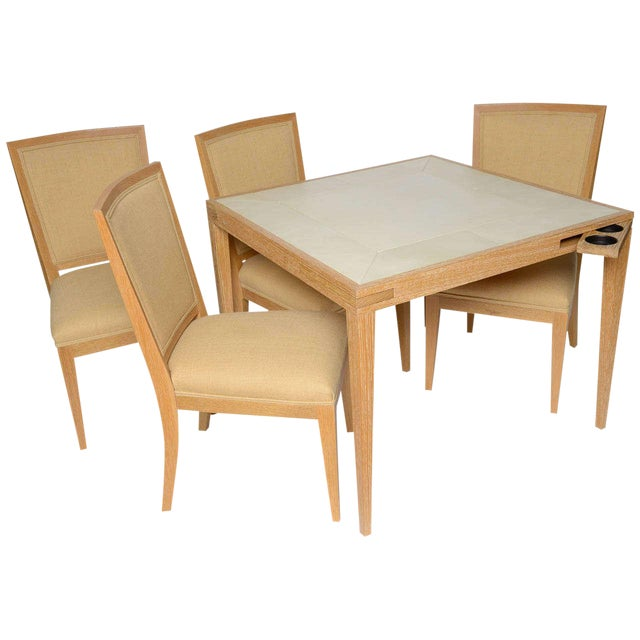 Frank Game Table and Set of 4 Chairs by Mattaliano For Sale