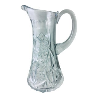 Cut Crystal Pitcher For Sale
