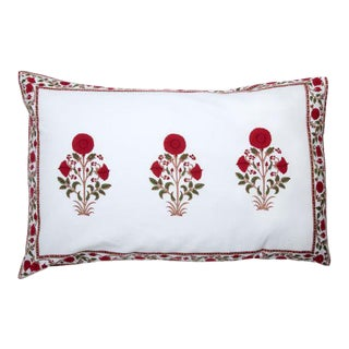 Amaya Red Reversible Pillow Case For Sale