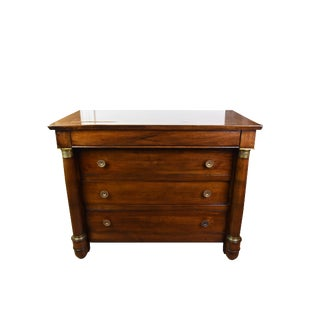 Late 19th Century French Walnut Empire Style Commode