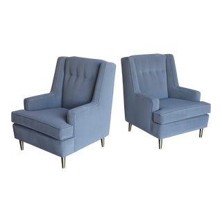 1960s Mid Century Modern Edward Wormley for Dunbar Lounge Chairs - a Pair For Sale