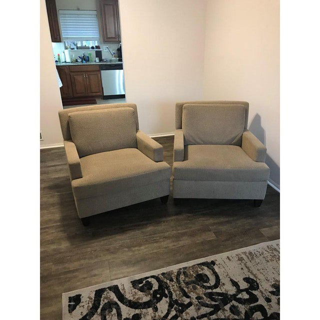Modern Martin Brattrud Edinburg HB Chairs With Knoll Fabric - A Pair For Sale - Image 10 of 10