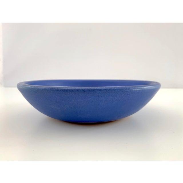 Bright Blue Ceramic Bowl For Sale - Image 4 of 11