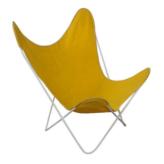 Knoll Hardoy Mid-Century Modern Iron Frame Butterfly Chair For Sale