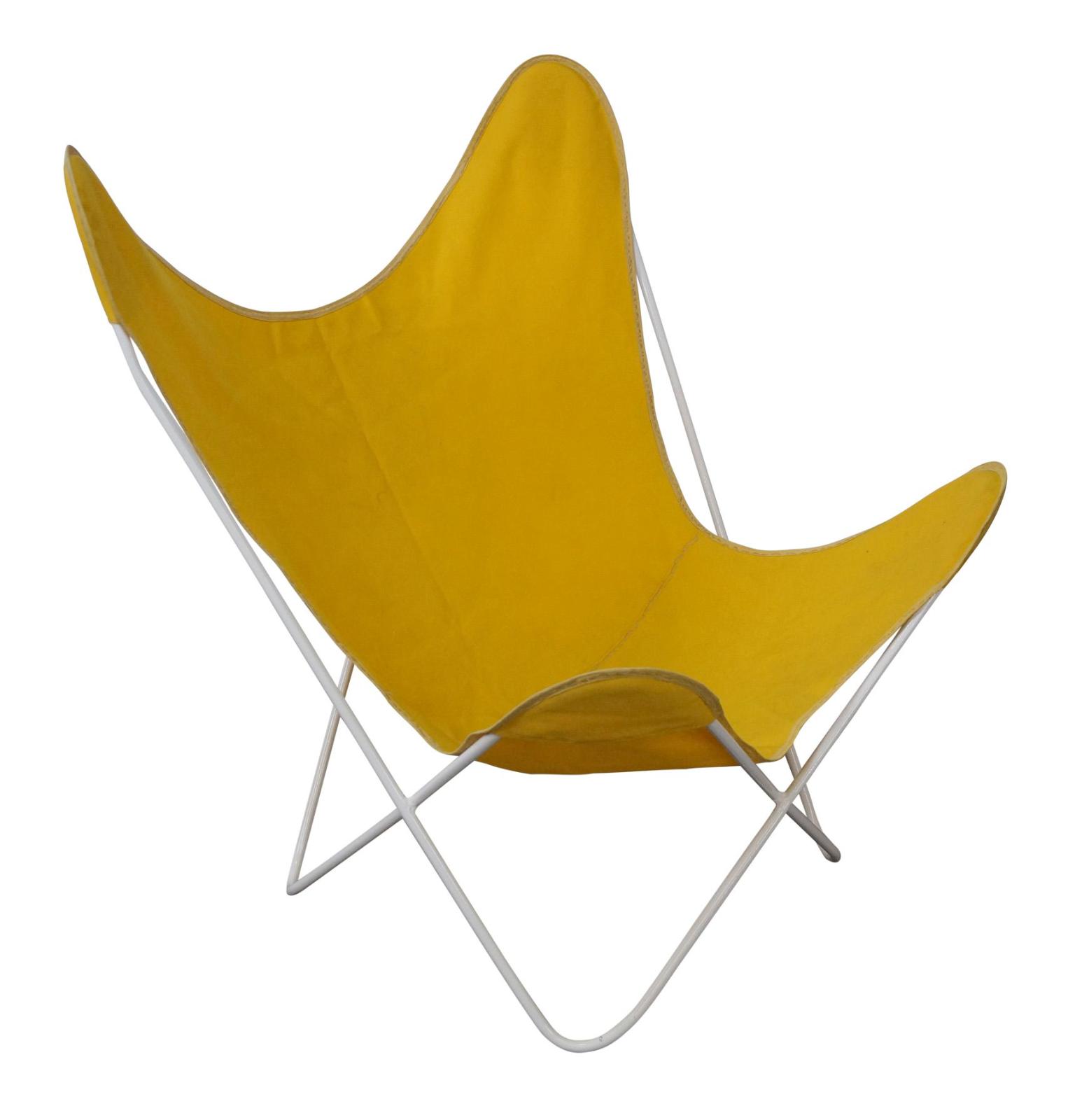 Delightful Knoll Hardoy Mid Century Modern Iron Frame Butterfly Chair