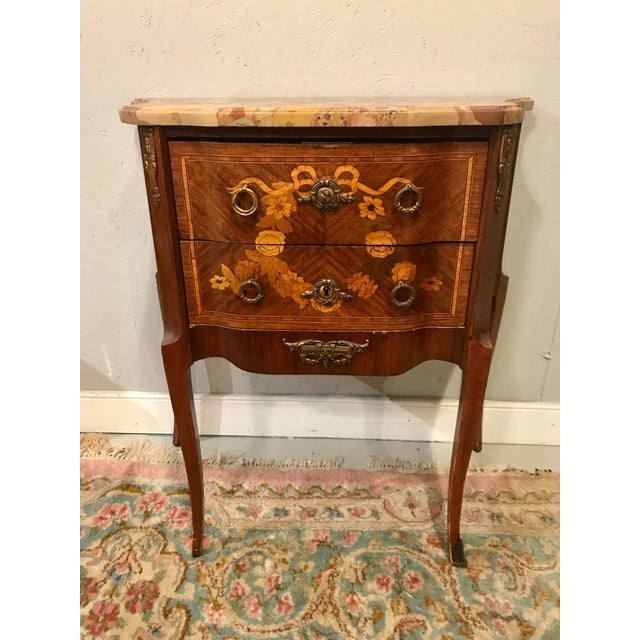 Brown Louis XVI Style Side Table For Sale - Image 8 of 8