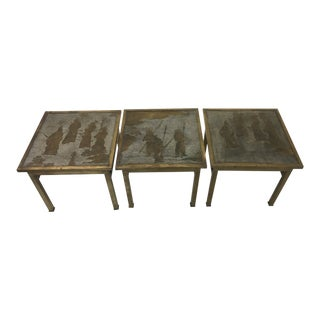 Philip & Kelvin LaVerne Ming Side Tables, 3 For Sale