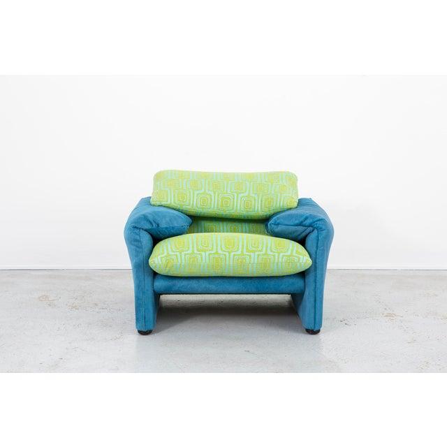Cassina Vico Magistretti Maralunga Chair + Ottoman For Sale - Image 4 of 11