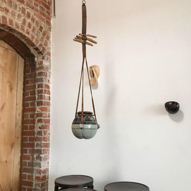 Vintage Hanging Ceramic Water Vessel For Sale - Image 4 of 10