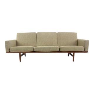 Danish Modern Oak Frame Sofa Designed by Hans Wegner For Sale