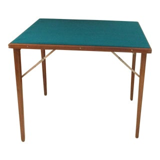 Mid-Century Modern Wood Lightweight Foldable Poker/Game Table For Sale
