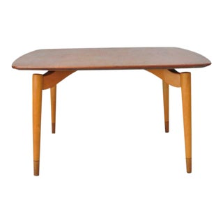 Grete Jalk P. Jeppesens Danish Mid Century Modern Teak Floating Coffee Table For Sale