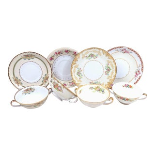 Vintage Mismatched China Cream Soup Cups - 8 Piece Set
