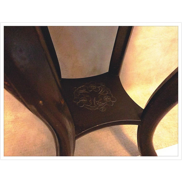 Paint Vintage Asian Chinese Carved Plant Stand Table For Sale - Image 7 of 11