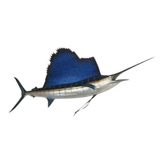 Faux Sailfish Taxidermy Wall Mount For Sale