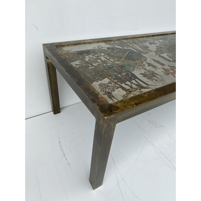 Philip and Kelvin LaVerne Etched Bronze Coffee Table For Sale - Image 11 of 13