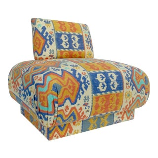 C1970s-80s Mid-Century Modern, Boho Chic Pouf Lounge Chair, Attr to Donghia For Sale