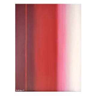 "Abstract Red Ombré Painting - 36x48"" For Sale"