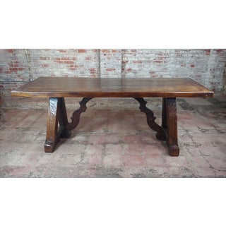 1960s Spanish Colonial Gorgeous Walnut Dining Table Preview