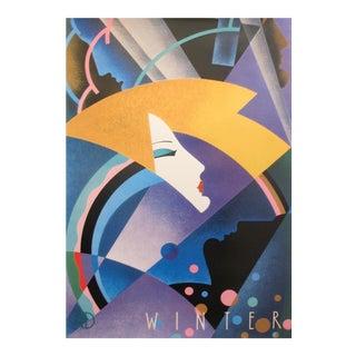 1980s Original Canadian Graphic Design Poster - Winter For Sale